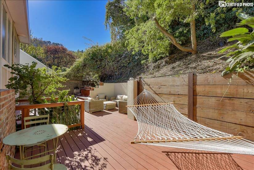 Enjoy time outdoors on this amazing deck