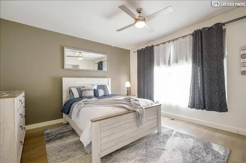 Second Bedroom w/ Large Window & LED Lights
