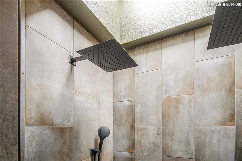 Dual shower heads in Master Bath
