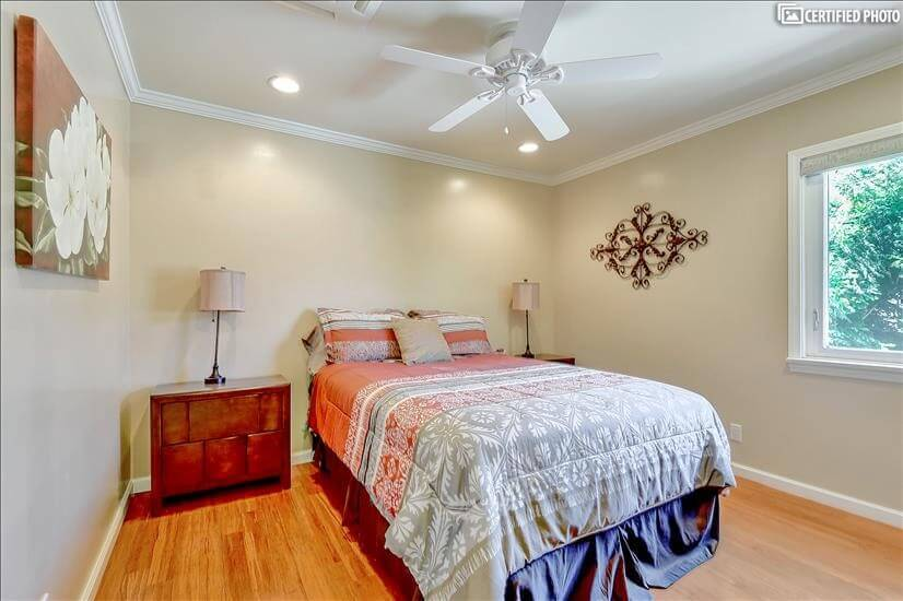2nd bedroom, ceiling fan, heat & air control