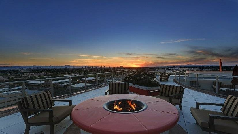 Rooftop Fire Place with amazing views