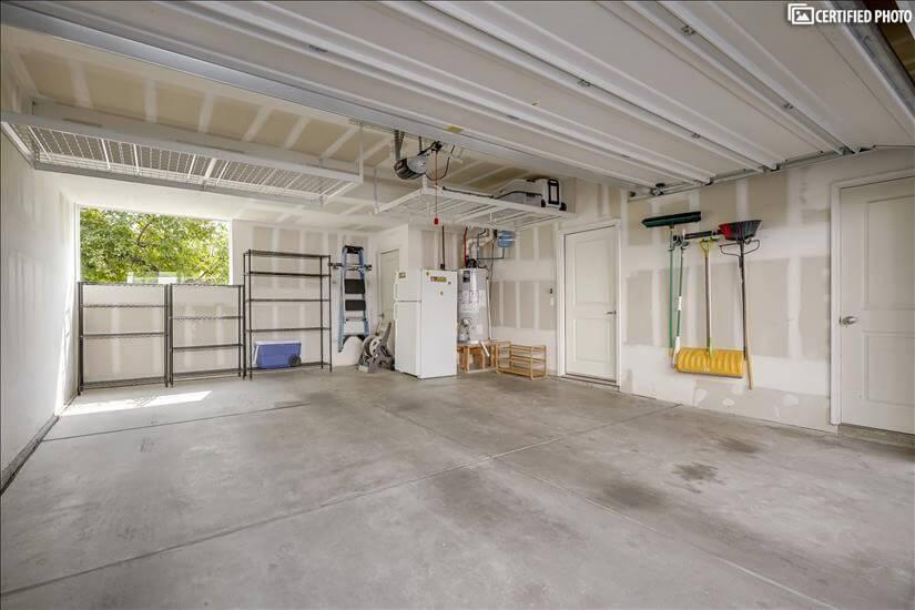 Two Car Garage w/ Storage