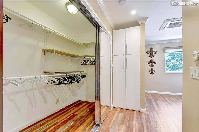 Huge walk-in closet and another extra storage
