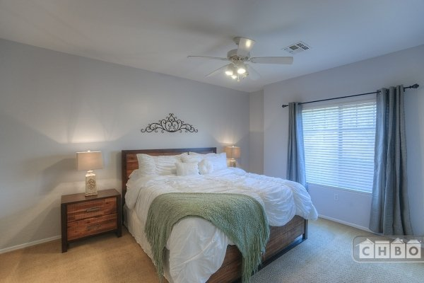 Master Bedroom Retreat with King Size Memory Foam Bed