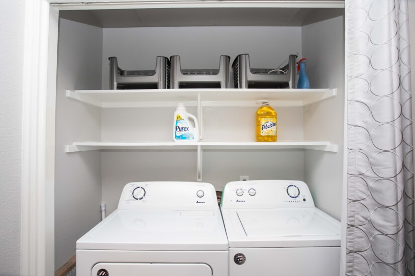 Washer and Dryer in the unit for you to use!