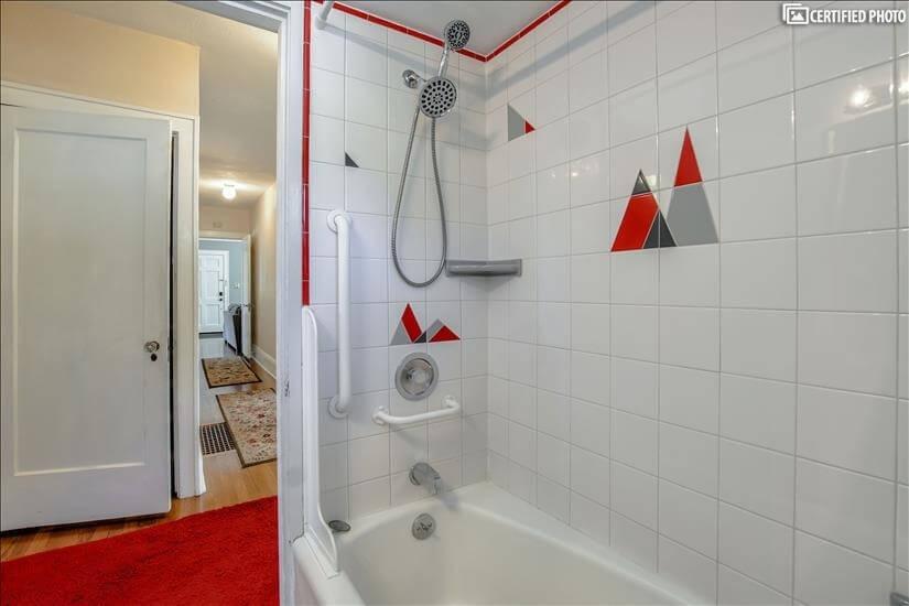 Full bath on main level with tub/shower inclu