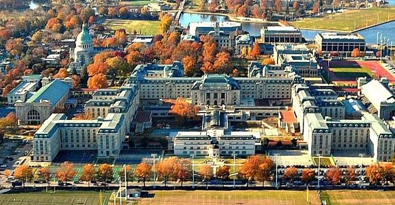 United States Naval Academy 1 block away