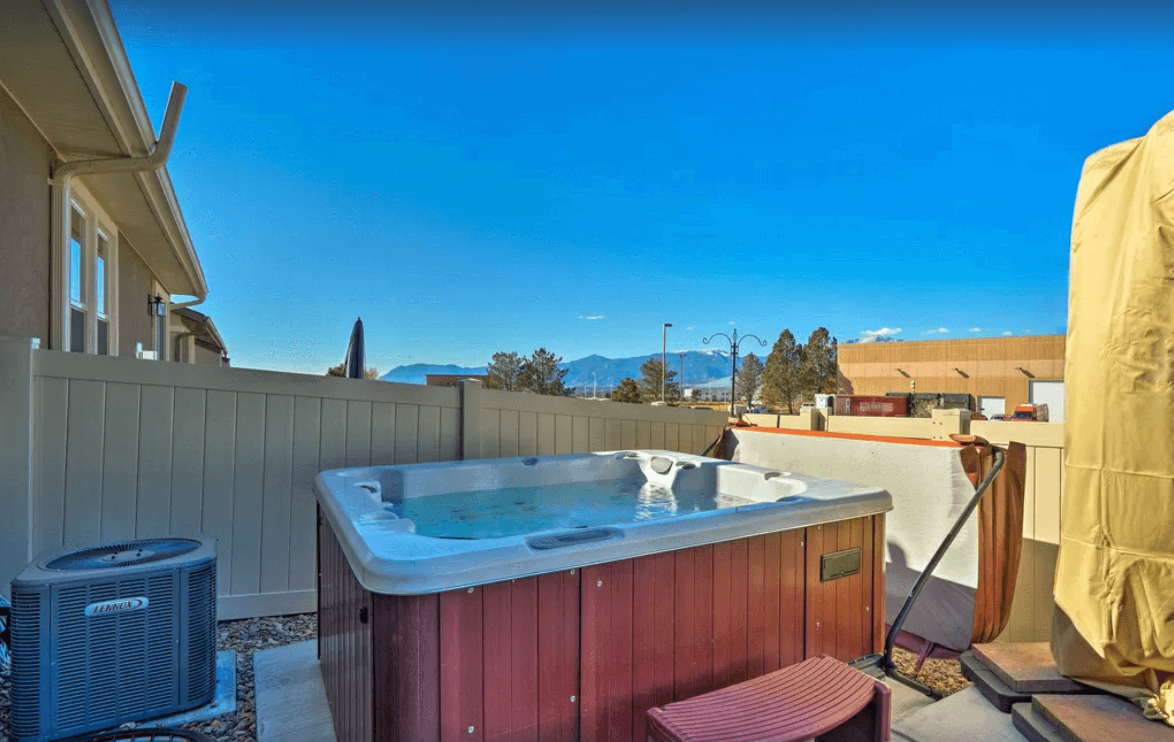 Relax in the hot tub!