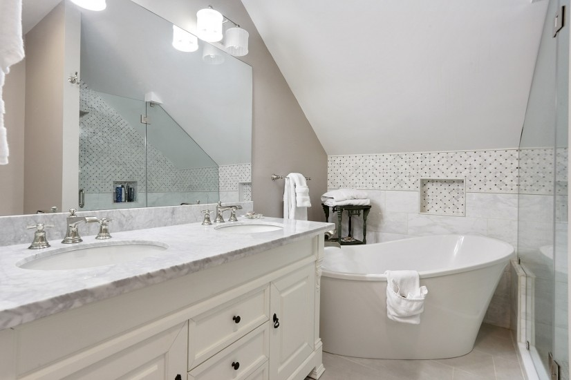 Luxury Bath with freestanding tub and walk in shower