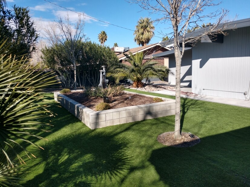 Fully landscaped backyard