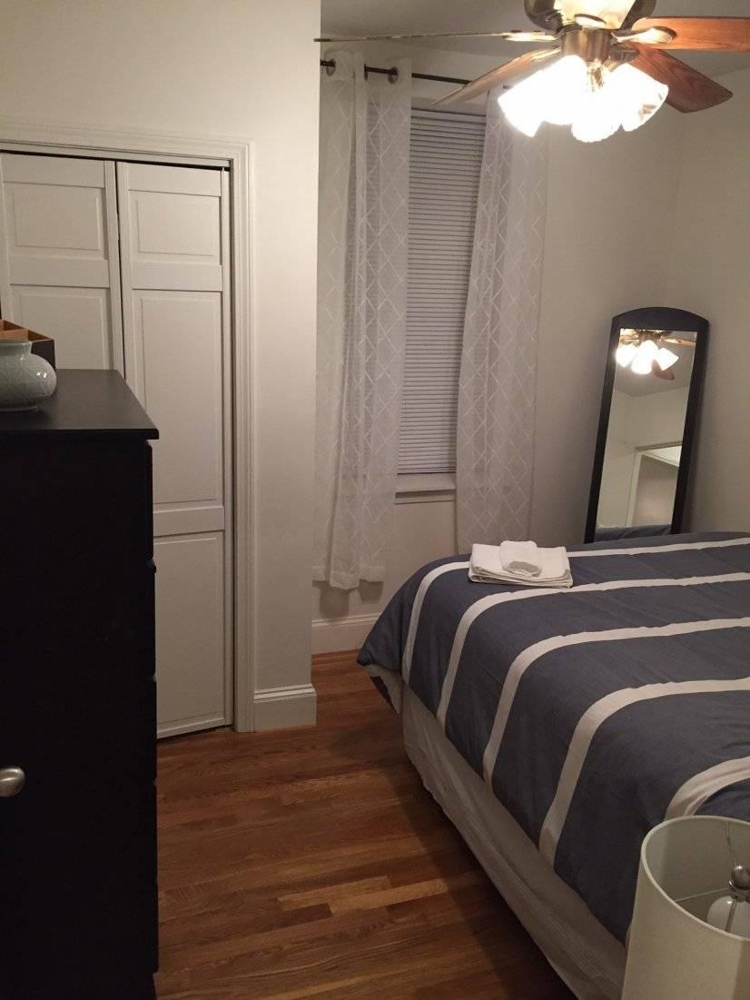 Bedroom 2, ceiling fan, closet