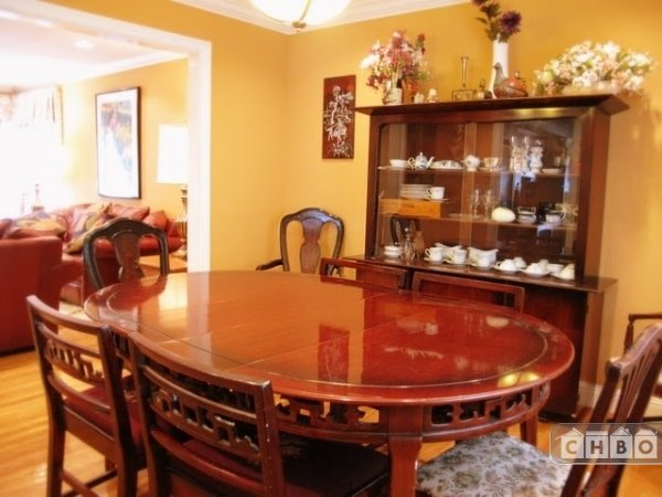 Mahogany dining set and china