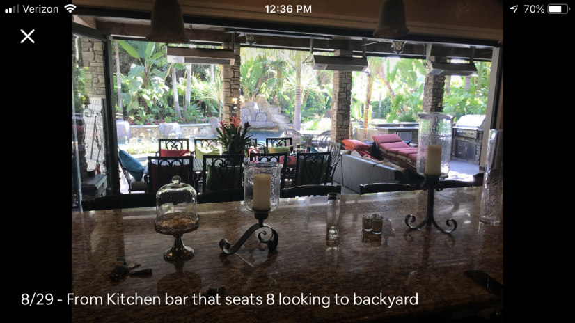 View from Kitchen Bar