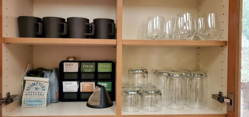 Coffee, Tea, Wine Glasses