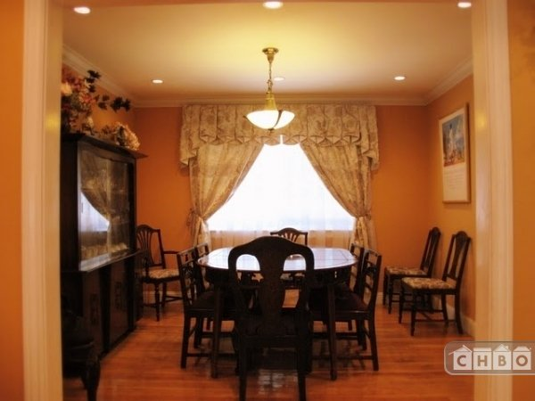 Formal Dining room with solid wood furniture & arts