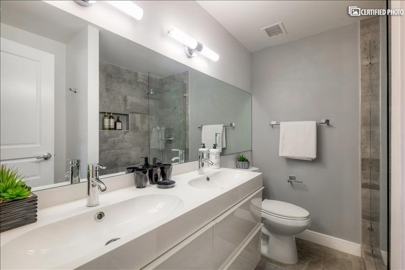 Two sinks in master bathroom