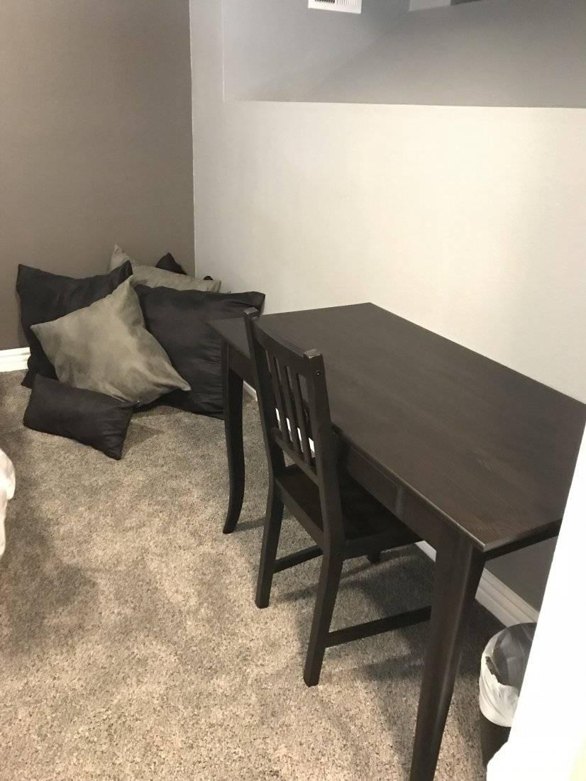 Desk in loft area
