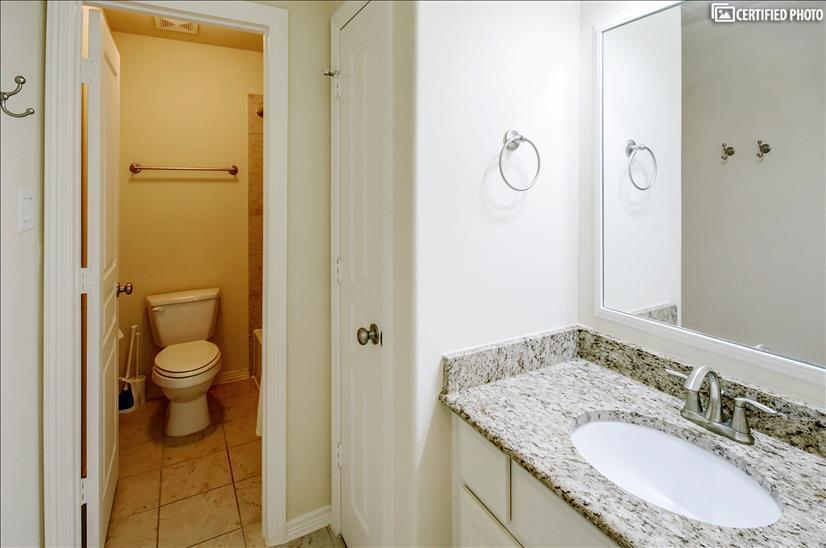 Bedroom 2 & 3 Bathroom w/ granite countertops
