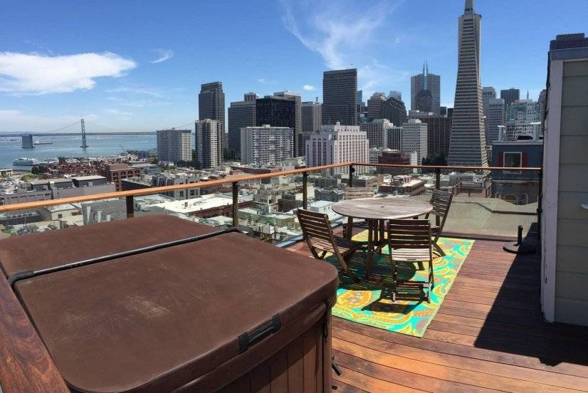 Wow! Downtown & Bay Bridge views from Hottub & Roof deck