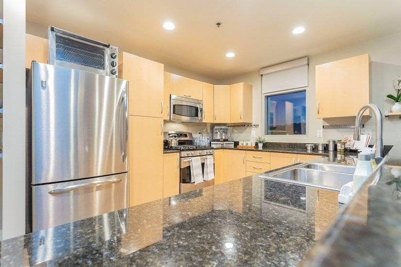 Ultra-modern kitchen with stainless steel appliances