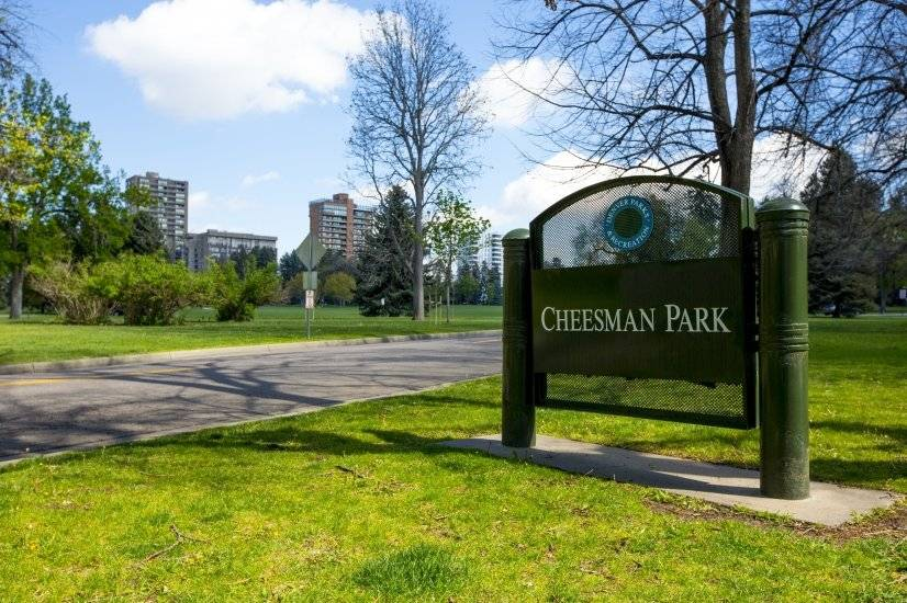 Cheesman Park is less than 3 blocks away