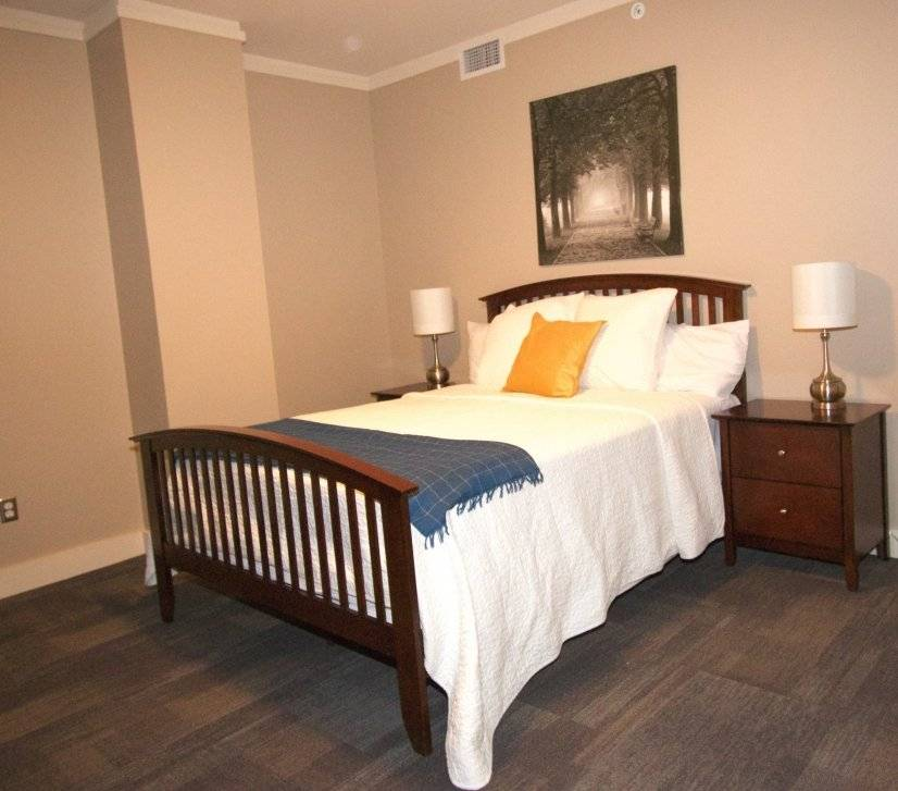 """Second Bedroom with two closets, queen bed and 32"""" TV"""