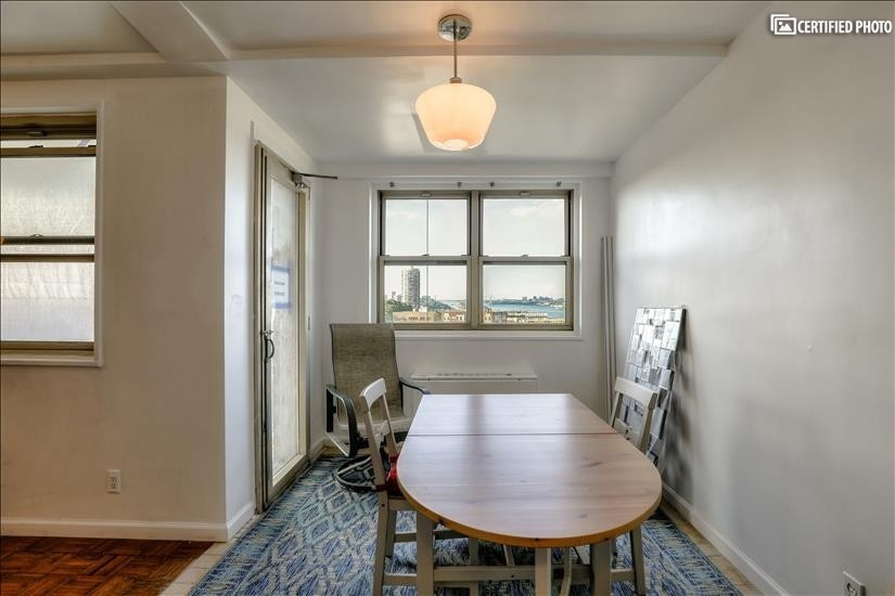 Dinette looks out to Balcony Access