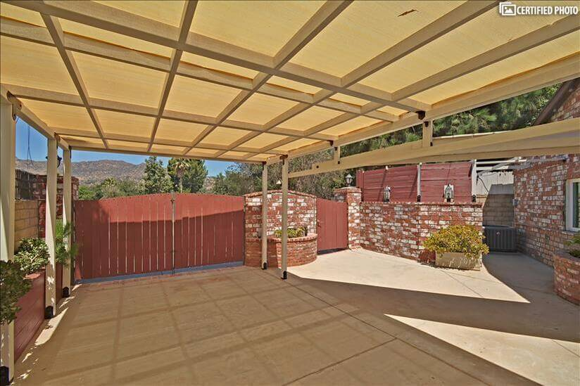 Carport with electrical car charger
