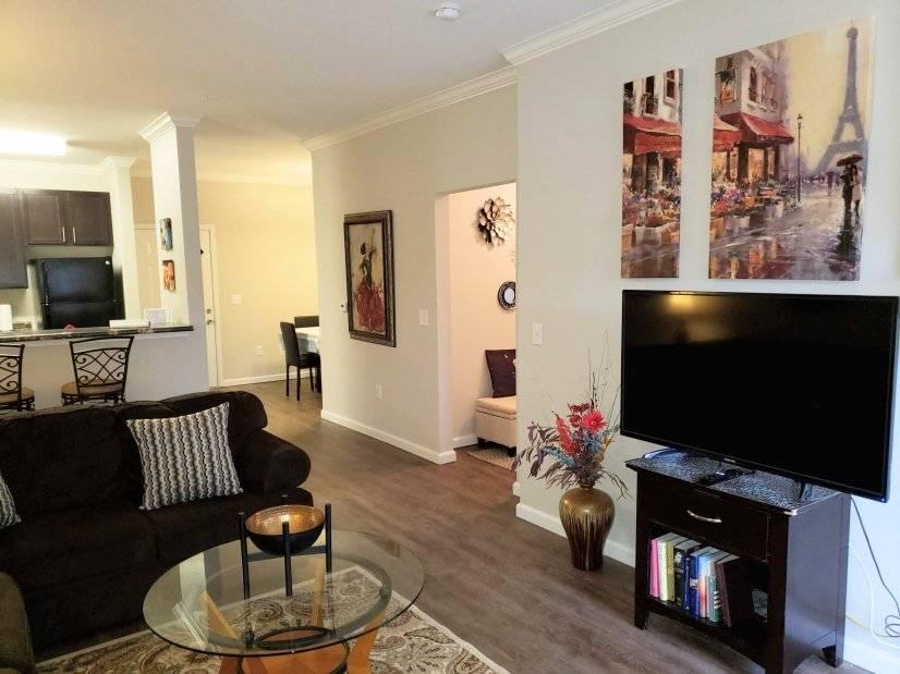 Huge open space living room