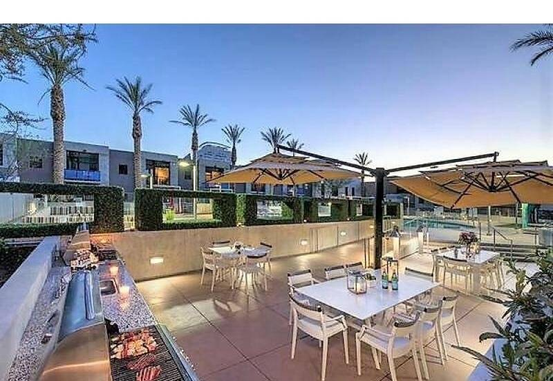 Outdoor Kitchen Adjacent to Pool