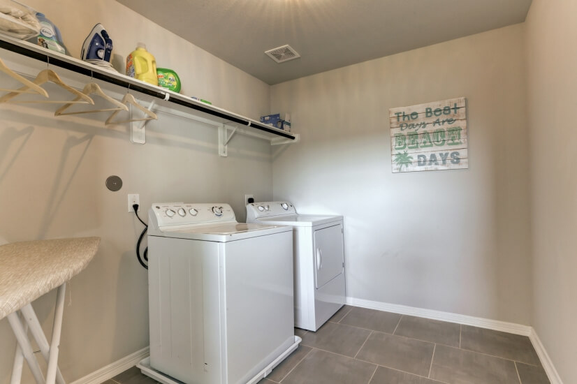 Oversized laundry room upstairs.