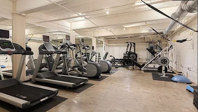 Fitness Center with Cardio Equipment & Weight