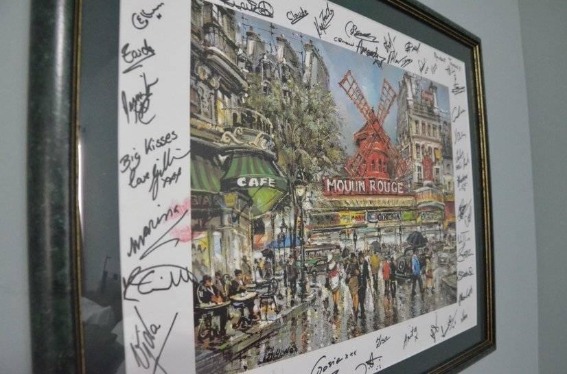 Autographed Moulin Rouge print