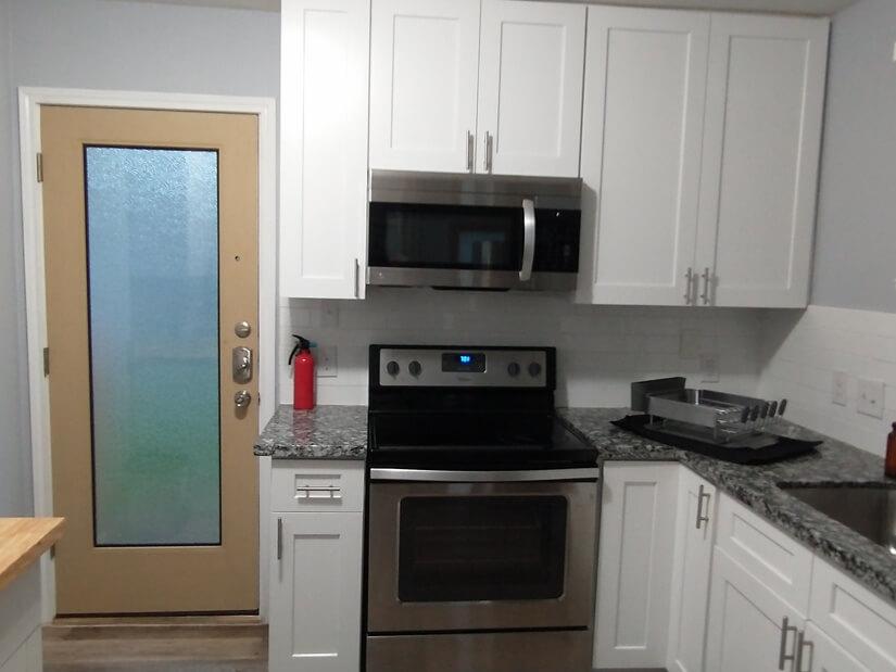 Electric range, microwave