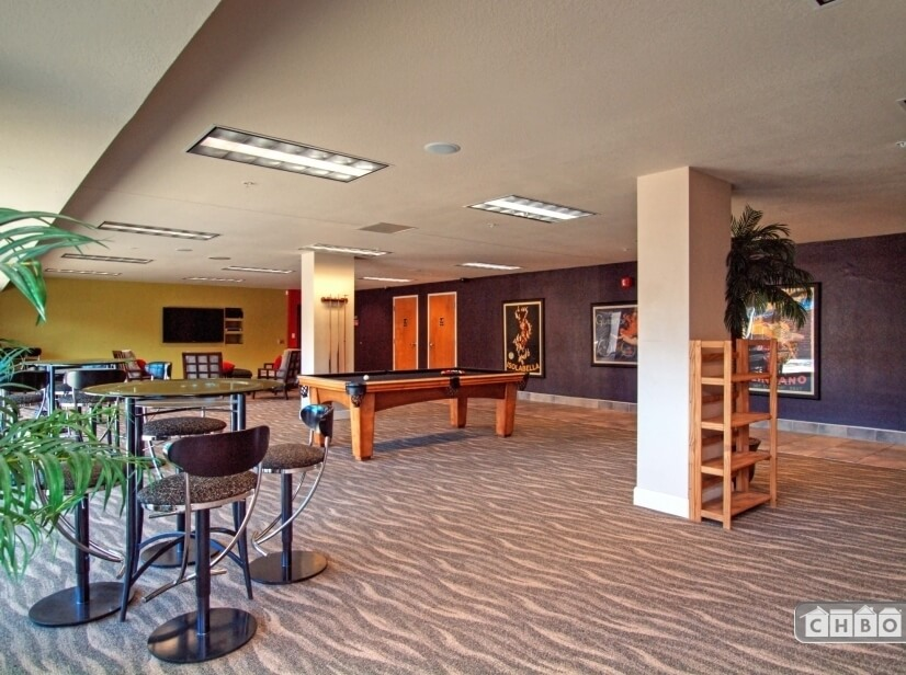 common area with large walk out to open space