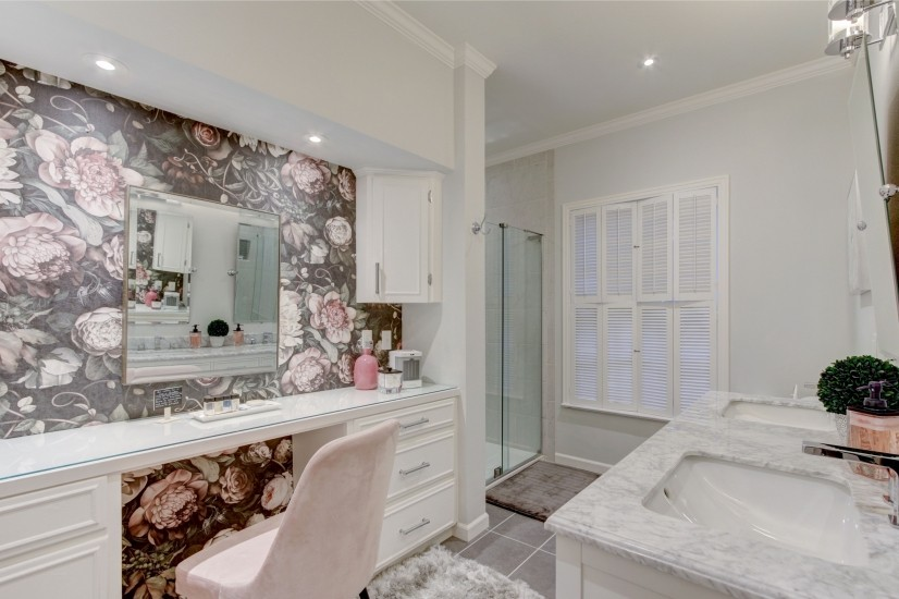 Bathroom in large bedroom (has a shower only)