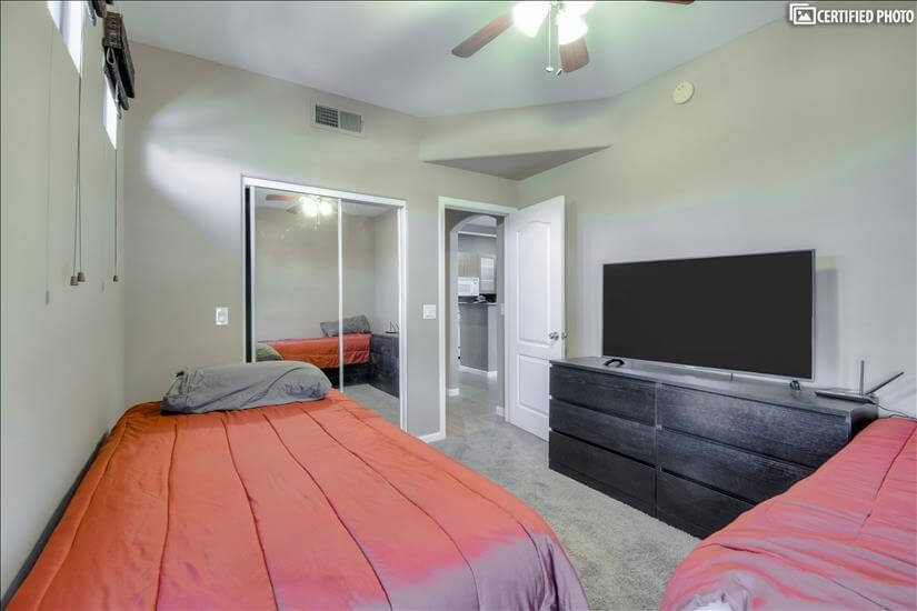 Large Flat Screen TV in Second Bedroom