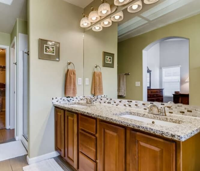 Master bath, shower, and walk-in closet