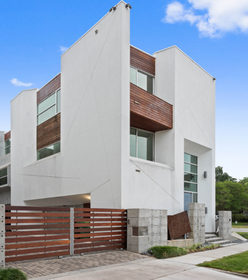 Architect designed free-standing townhome