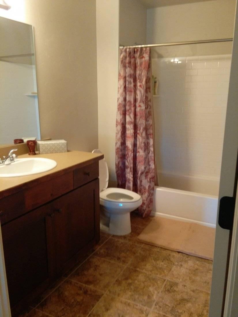 Stocked bathroom