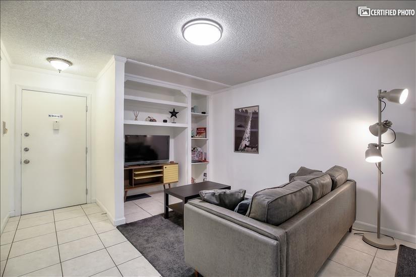 Front door opens onto spacious living area