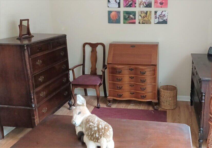 Bureau, Desk, & Dresser in bedroom