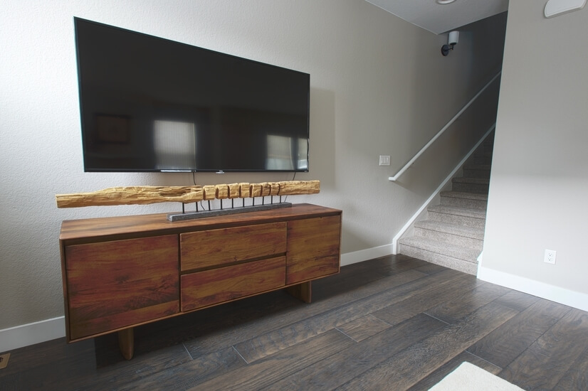 TV in Living Room, Stairs to 3rd Floor
