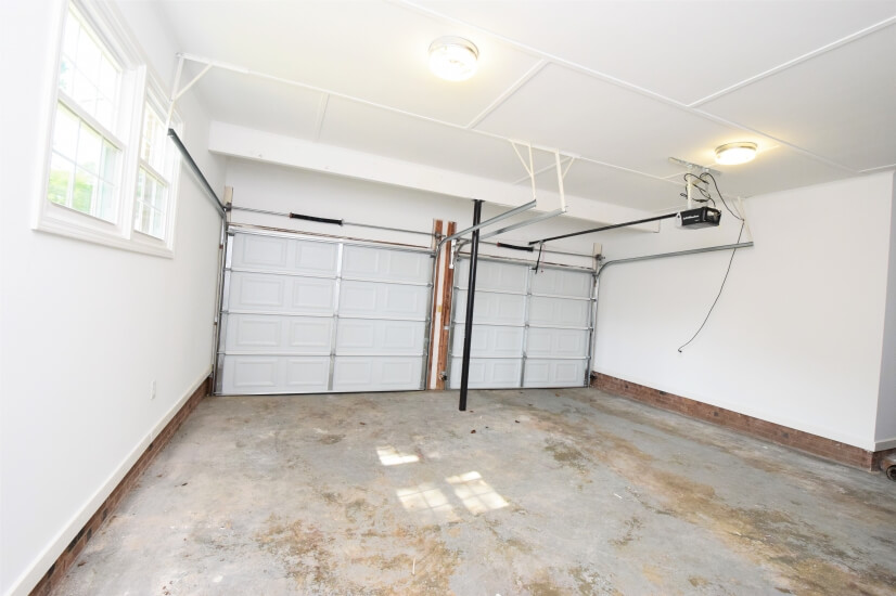 Two car garage for parking or storage