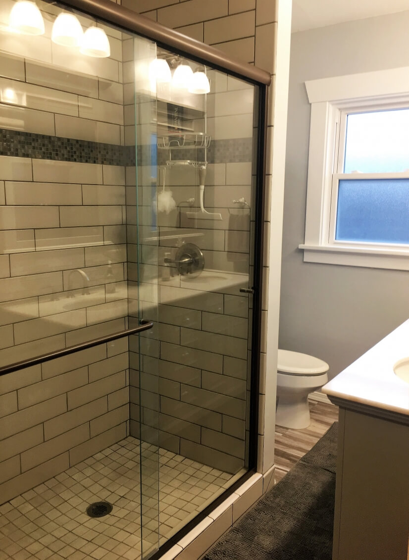 You'll love the over-sized shower