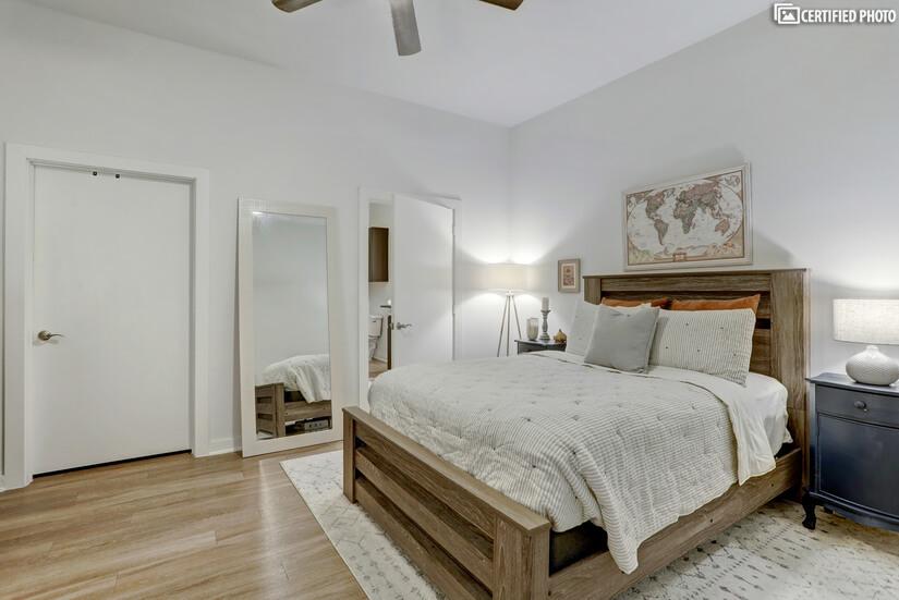 bedroom with walk- in closet