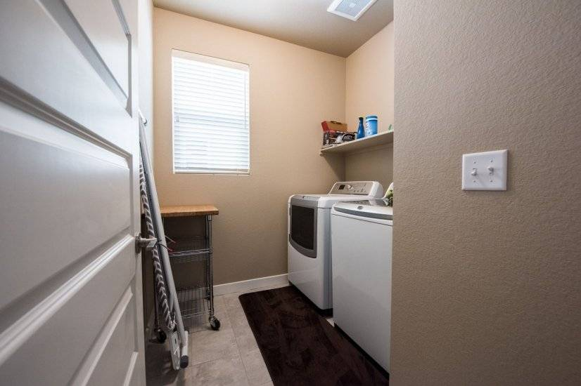 Laundry room off of 2 car garage.