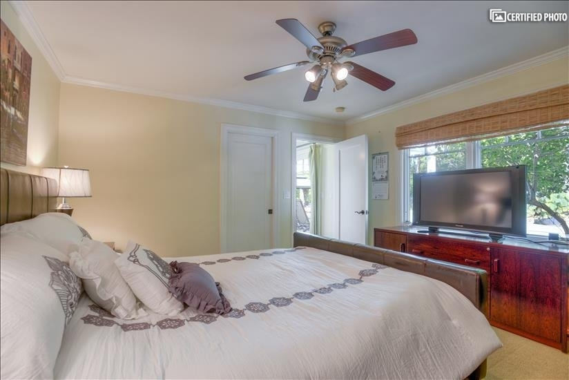 """Bedroom 1 with a 42"""" TV"""