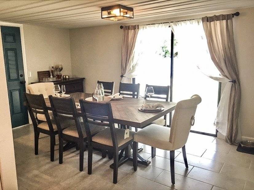 Dining Room table seats up to 8 guests