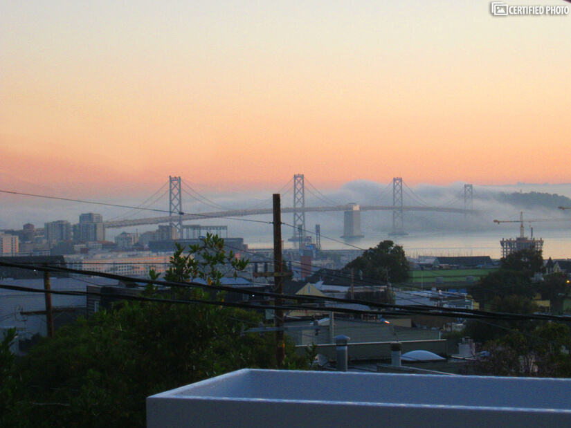 The famous San Francisco fog rolls in.